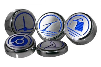 ACC® 173003-BLU - Executive Series Blue Carbon Fiber Engine Fluid Caps
