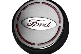 ACC® - Executive Series  Engine Fluid Caps with Carbon Fiber Ford Oval Bowtie