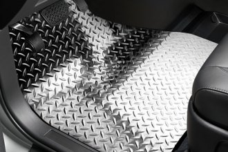ACC® - Black Powder Coated Diamond Plate Aluminum Floor Mats