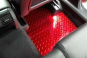 ACC® - Red Powder Coated Diamond Plate Aluminum Floor Mats