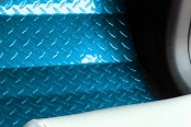 ACC® - Blue Powder Coated Diamond Plate Aluminum Floor Mats