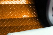 ACC® - Orange Powder Coated Diamond Plate Aluminum Floor Mats