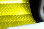 ACC® - Yellow Powder Coated Diamond Plate Aluminum Floor Mats