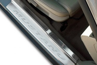 ACC® - Brushed Stainless Door Sills Mustang Logo