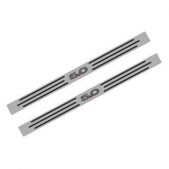 ACC® - Polished Stainless Steel Door Sills with Carbon Fiber 5.0 Logo