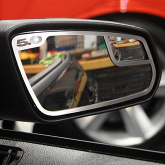 ACC® - Brushed Side View Mirror Trim with 5.0 Logo