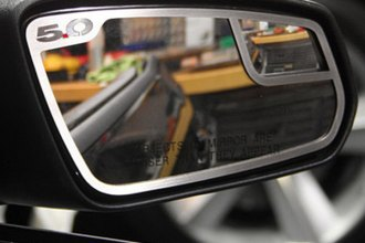 ACC® 272010 - GM Licensed Series Brushed Stainless Steel Side View Mirror Trim with 5.0 Logo