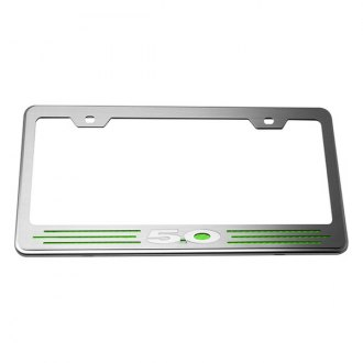 ACC® - License Plate Frame with Green Carbon Fiber 5.0 Inlay