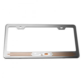 ACC® - License Plate Frame with Orange Carbon Fiber 5.0 Inlay