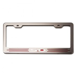 ACC® - License Plate Frame with Red Carbon Fiber 5.0 Inlay