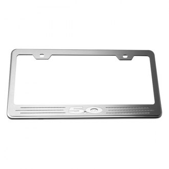 ACC® - License Plate Frame with White Carbon Fiber 5.0 Inlay
