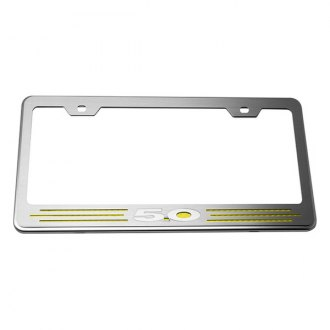 ACC® - License Plate Frame with Yellow Carbon Fiber 5.0 Inlay