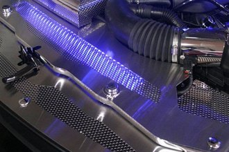 American Car Craft® - Perforated Illuminated Brushed Radiator Cover