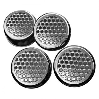 ACC® - Perforated Chrome Stainless Steel Cap Cover Set