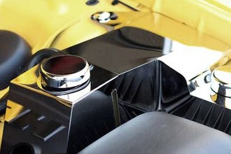 ACC® 303020 - Polished Stainless Steel Coolant and Power Steering Cover with Cap Covers