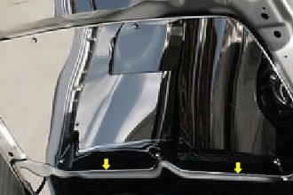 ACC® - Polished Stainless Steel Lower Hood Cowl Cover