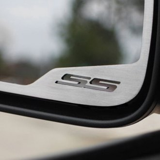 ACC® - Brushed Stainless Steel Side View Mirror Trim with SS Logo