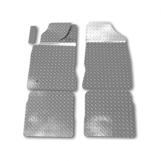 ACC® - 1st and 2nd Row Aluminum Silver Diamond Plate Mats Set