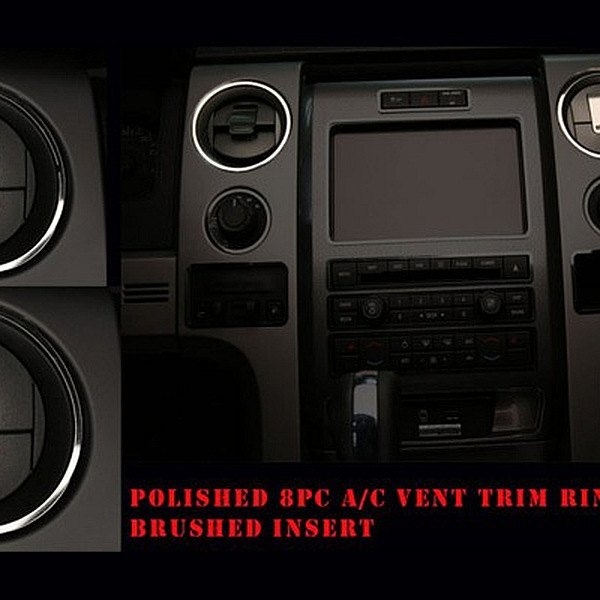 ACC® - Polished Stainless Front A/C Vent Bezel Trim