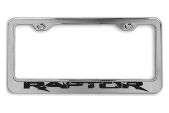 ACC® - Stainless Steel License Plate Frame with Raptor Logo