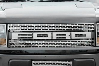 ACC® 772019 - Ford Motor Company Licensed Series Brushed Front Grille Letter Set