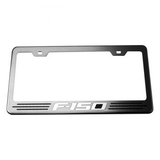 ACC® - Stainless Steel License Plate Frame with Black Carbon Fiber F-150 Inlay