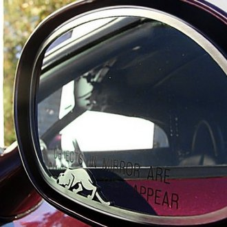 ACC® - Brushed Side View Mirror Trim with Kat Logo