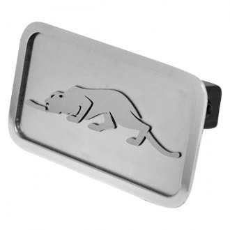 "ACC® - Brushed Hitch Cover with Cat Logo for 1-1/4"" Receivers"