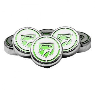 ACC® - Chrome Cap Cover Set with Green Carbon Fiber Sneaky Pete Logo