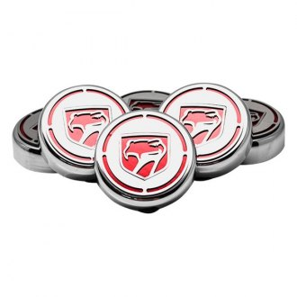ACC® - Chrome Cap Cover Set with Red Carbon Fiber Sneaky Pete Logo