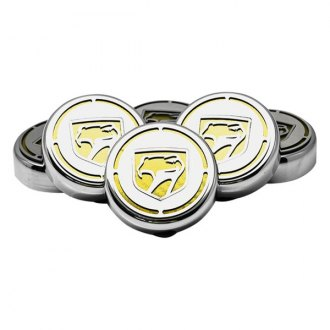 ACC® - Chrome Cap Cover Set with Yellow Carbon Fiber Sneaky Pete Logo