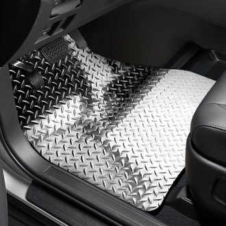 ACC® - 1st Row Aluminum Silver Diamond Floor Mats