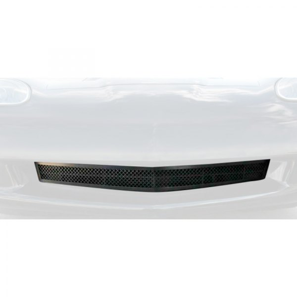 American Car Craft® - 1-Pc Stealth Series Black Powder Coated Laser Mesh Main Grille
