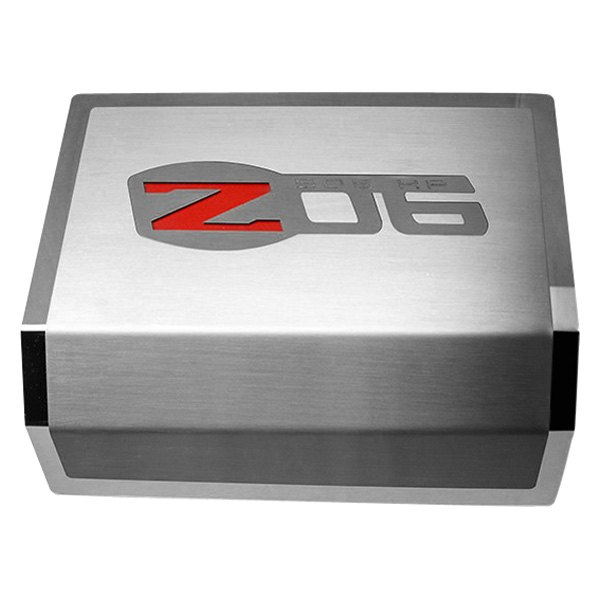 american car craft® 043130 brushed fuse box cover with z06 logo fuse logo newspring american car craft® brushed fuse box cover with z06 logo