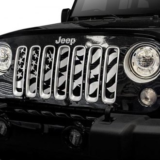 ACC® - 1-Pc Star Spangled Style Satin CNC Machined Main Grille
