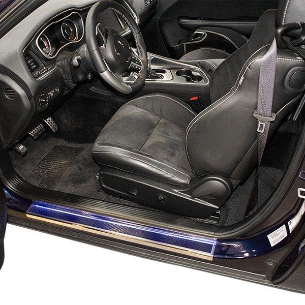Acc Dodge Challenger 2008 2016 Illuminated Polished Carbon Fiber Door Sills
