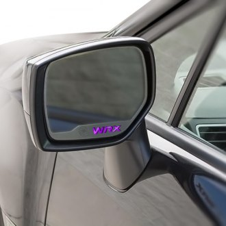 ACC® - Brushed Side View Mirror Trim with Purple Carbon Fiber WRX Logo