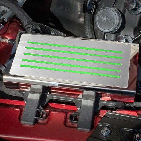 American Car Craft reg 273056 BGRN Polished Fuse Box Plate