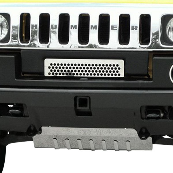 American Car Craft® - 1-Pc Perforated Style Polished CNC Machined Bumper Grille