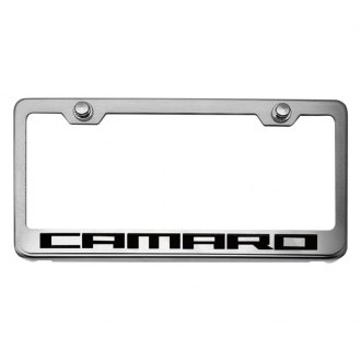 ACC® - Brushed License Plate Frame with Camaro Logo