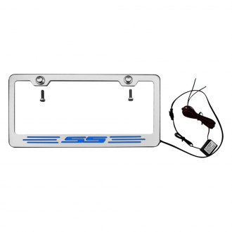 ACC® - GM Licensed Series Brushed License Plate Frame with SS Logo and Illuminated