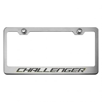 ACC® - MOPAR Licensed Series Brushed License Plate Frame with Challenger Logo