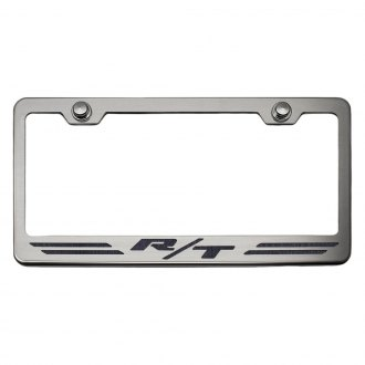 ACC® - Brushed License Plate Frame with R/T Stripes Logo