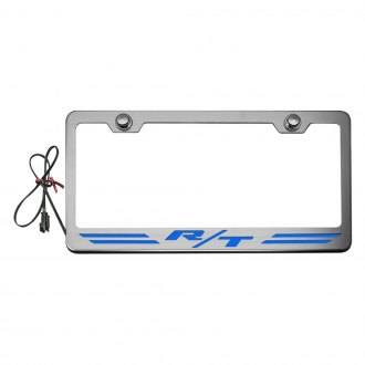 ACC® - Brushed License Plate Frame with R/T Stripes Logo and Illuminated