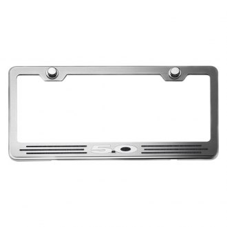ACC® - Brushed License Plate Frame with 5.0 Logo and Inlay
