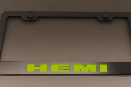 Great ACC®   License Plate Frame With HEMI Logo Illuminated   Installation  Instructions