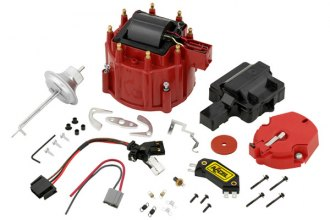 Accel® - Red HEI Style Distributor Cap and Rotor Kit with Vacuum Advance