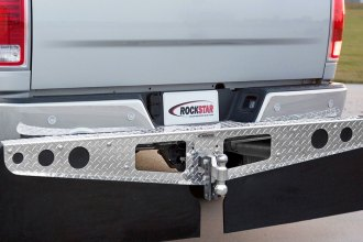 Access® - RockStar™ Bright Diamond Plate Hitch Mounted Mud Flaps