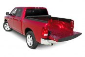 Image may not reflect your exact vehicle! Access® - Roll-Up Tonneau Cover, Opened