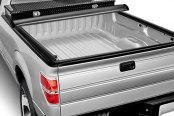 Image may not reflect your exact vehicle! Access® - Toolbox Roll-Up Tonneau Cover, Opened